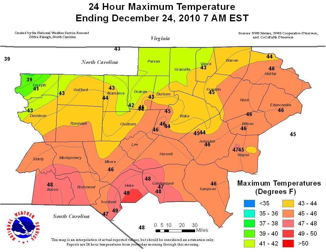 December 25 26 2010 winter storm for Soil temperature