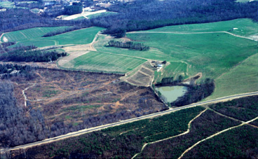 arial photo of little river site - existing