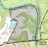 map of neuse river site
